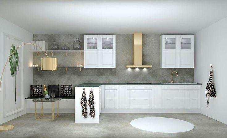 Helags en modell som avgörs vilka tillbehör du väljer, klassiskt vit med marmor bänkskiva eller modern antracit med betongbänkskiva och rostfria vitvaror. Valen är oändliga.