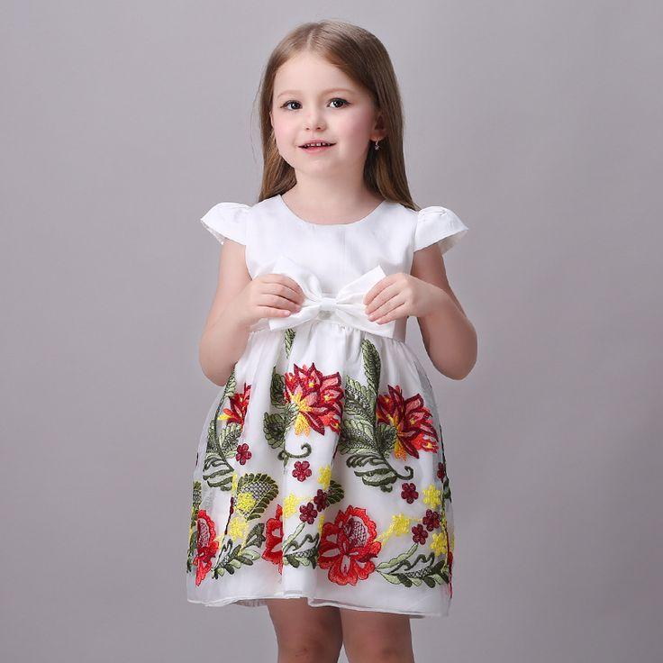 >> Click to Buy << Princess Girls Floral Dresses Summer New Baby Flower Pattern A-line Vest Ruffles Dress Kids Clothes Children Party Vestidos #Affiliate