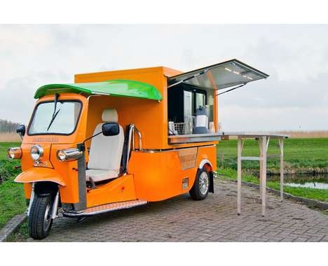 #3  Cute Mobile Food Trucks  'E-Tuk Vendo' by Tuk Tuk Factory Turns a Car Into a Store http://food-trucks-for-sale.com/