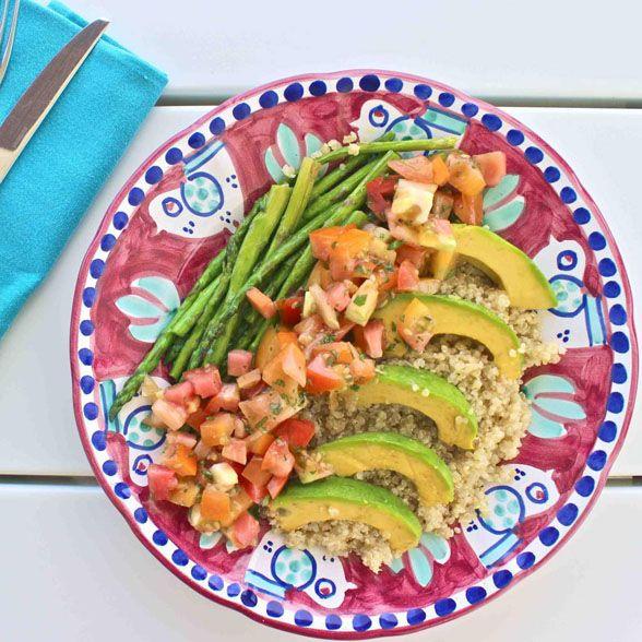 Avocado Salsa Quinoa Salad