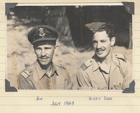 Jim Ashworth, left, and Buddy Date, right, were two pilots serving with the RAF 20 Squadron in India, flying Hurricanes over occupied Burma.