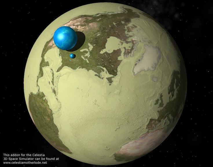 earth images - Illustration showing all water on or near Earth's surface collected in a sphere, the radius of which would be only about 700 kilometers, less than half the radius of the Moon. How even this much water came to be on the Earth and whether any significant