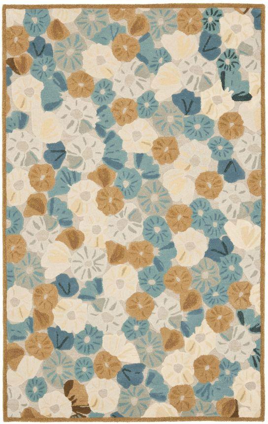 safavieh martha stewart poppy field sapphire rug - Martha Stewart Rugs