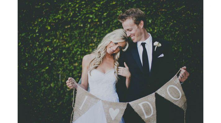 burlap wedding signs