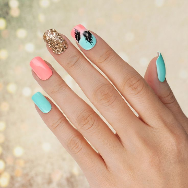 Nail designs kiss ~ Beautify themselves with sweet nails