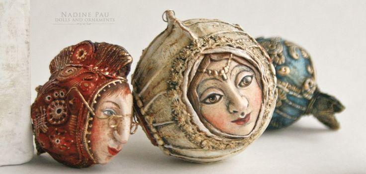 Коллекционные ёлочные игрушки художника Надежды Шахристенберг (nadinepau)