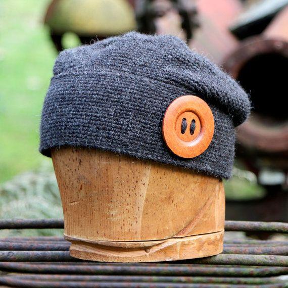 64c6d7fd182 Charcoal grey alpaca slouchy beanie plus size hat by UpthePitt