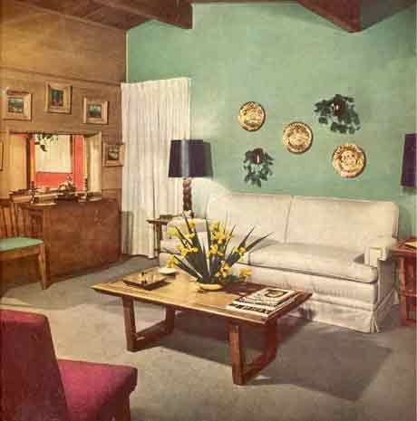 A mid century modern house with modern and traditional furniture - from  Better Homes and Gardens