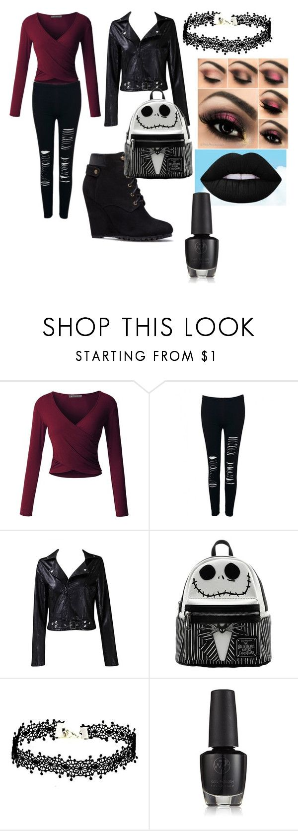 """""""School day outfit"""" by undifinedweirdos on Polyvore featuring LE3NO, WithChic and Taya"""