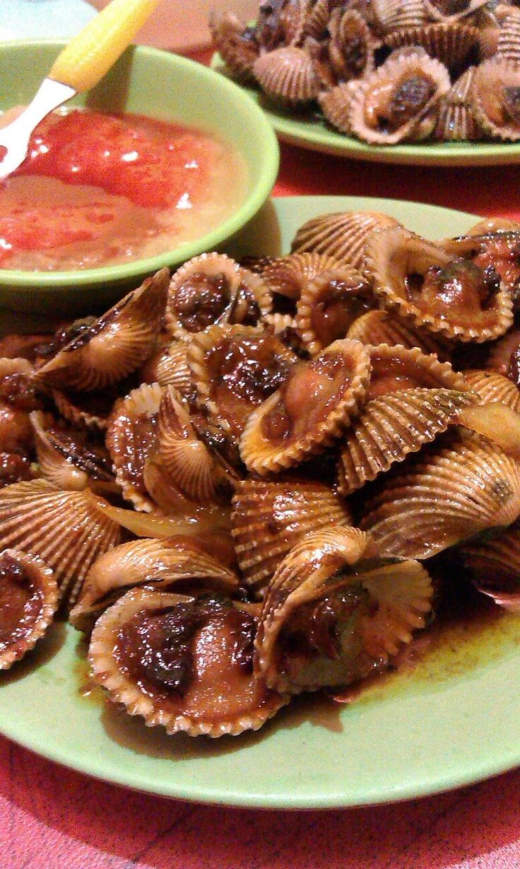 Kerang Saus Tiram. Mussel with oyster sauce