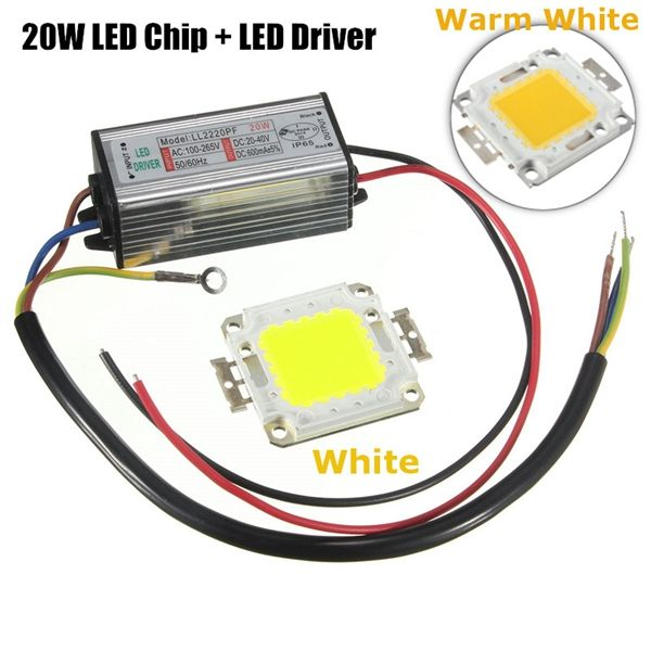 High Power 20w Led Smd Chip Bulb With Waterproof Driver Supply