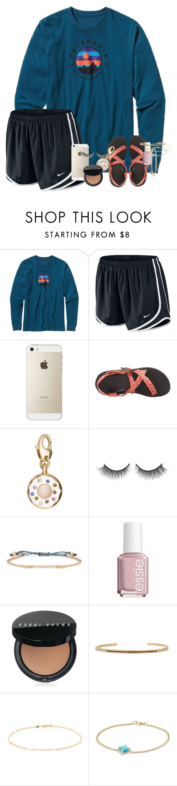 """""""Did some on-line shopping today """" by erinlmarkel ❤ liked on Polyvore featuring Patagonia, NIKE, Chaco, Kate Spade, Rimini, Stella & Dot, Essie, Bobbi Brown Cosmetics, Luis Miguel Howard and David Yurman"""