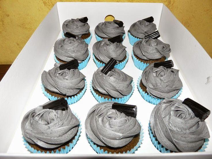 Mallorca Dolça: Cupcakes de regaliz negro