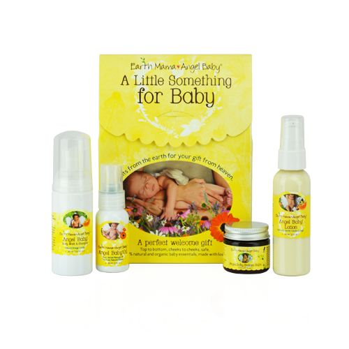I love Earth Momma Baby Angel products.  They are safe for all skin types and made from organic ingredients.