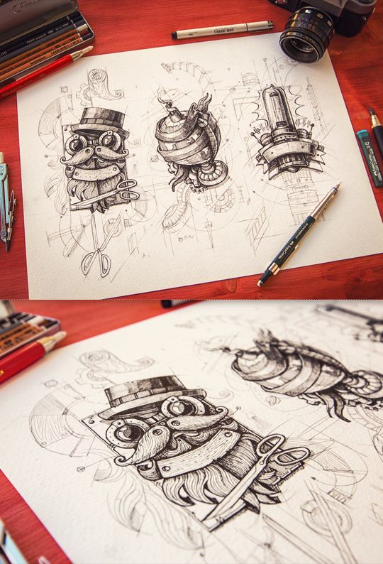 Steampunk 2012-2013 by Mike , via Behance amazing