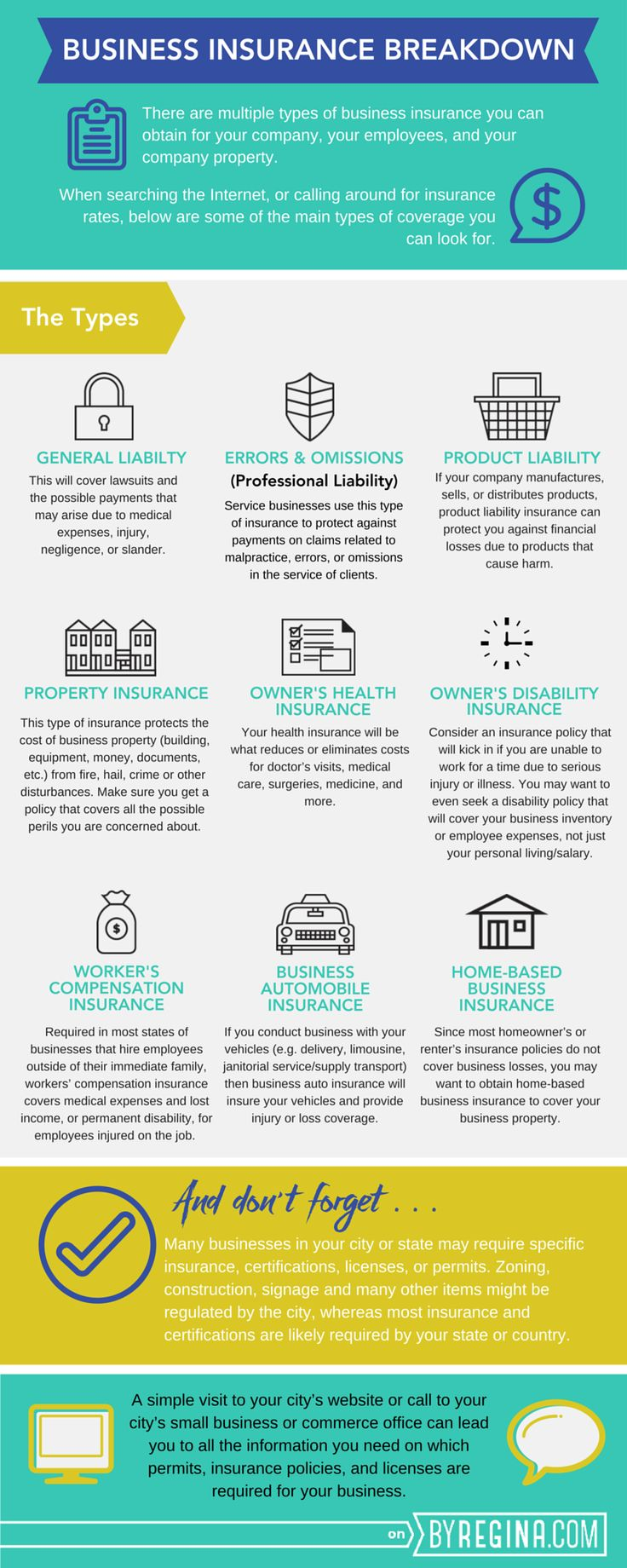 Here are some important types of insurance for you to consider for your #business. Have a big network of executives and HR managers? Introduce us to them and we will pay for your travel. Email me at carlos@recruitingforgood.com