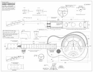 Roundneck Resonator Blueprint Resonator Guitar Dobro Blueprints