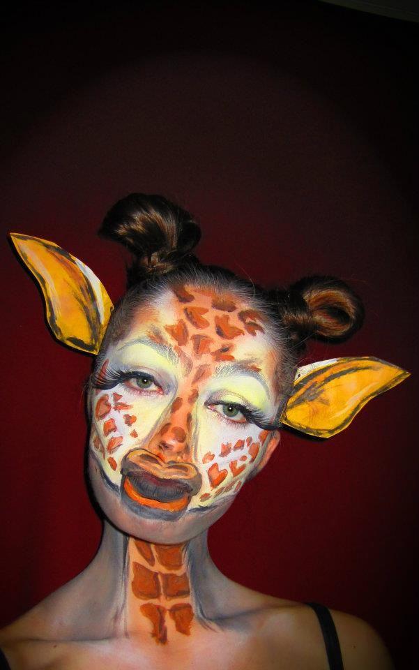 Giraffe Face Paint | Giggles | Halloween Makeup, Giraffe ...