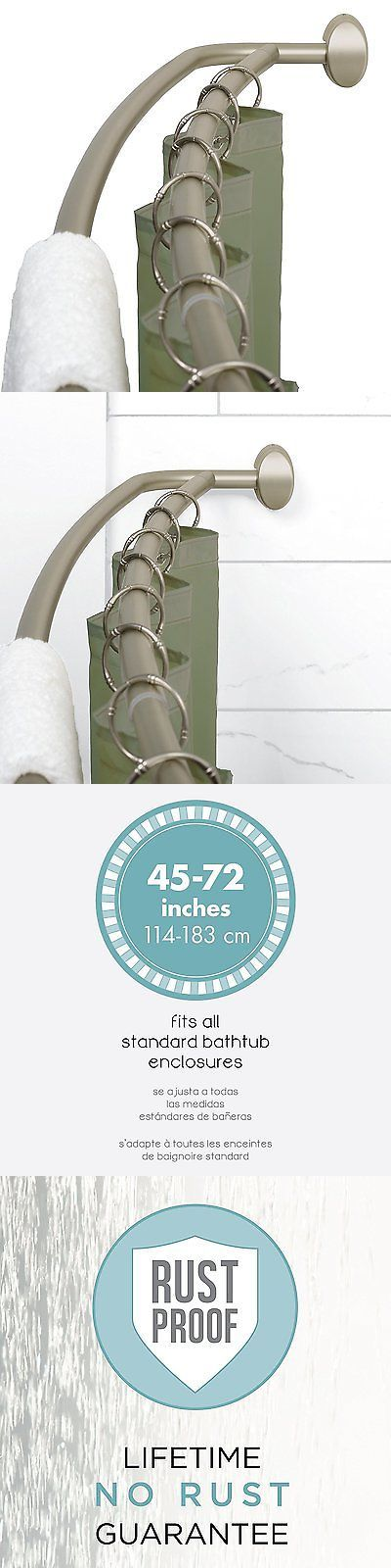 Shower Curtain Rods 168132: Openbox Zenna Home 35604Bn, Neverrust Aluminum Double Curved Shower Curtain Rod, -> BUY IT NOW ONLY: $42.43 on eBay!