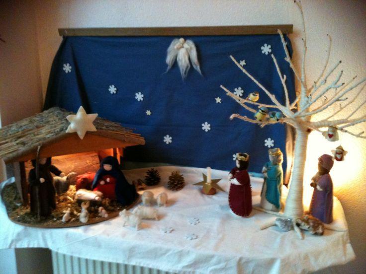 Kerst seizoenstafel Christmas waldorf felt