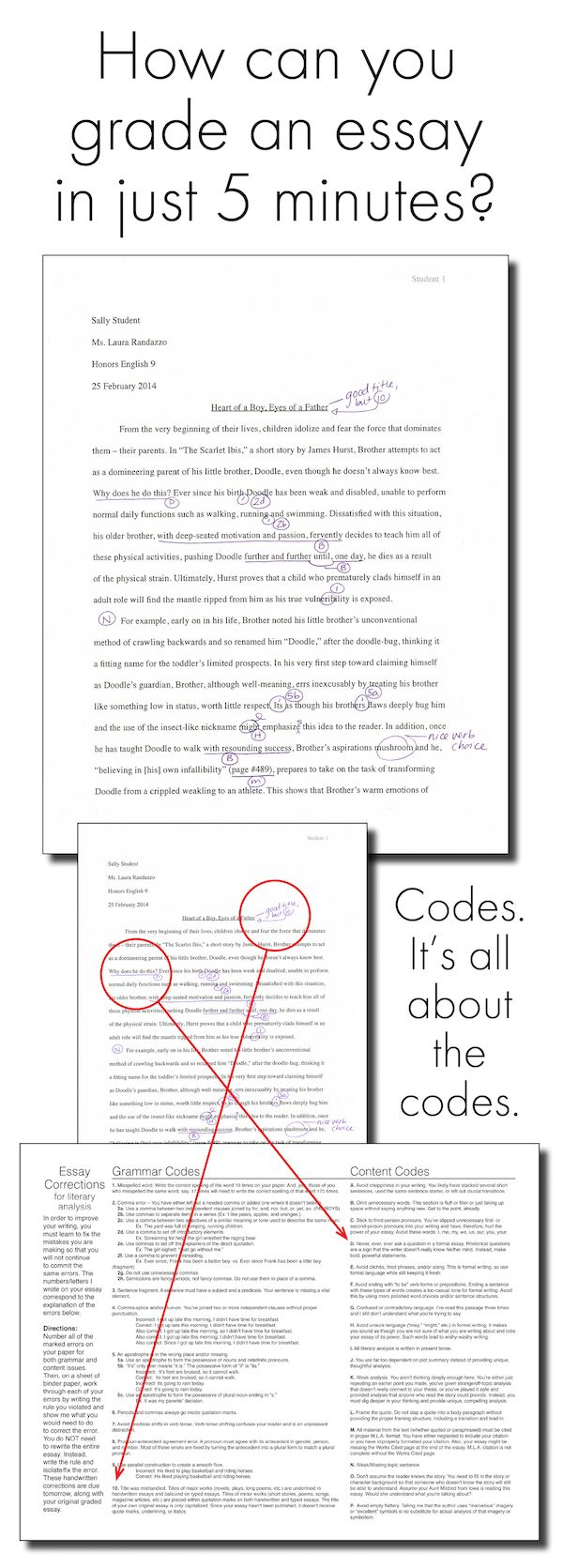 Reclaim your nights and weekends! Learn to grade an essay in just 5 minutes. #essays #grading #paperload #gradingsystem #teacher