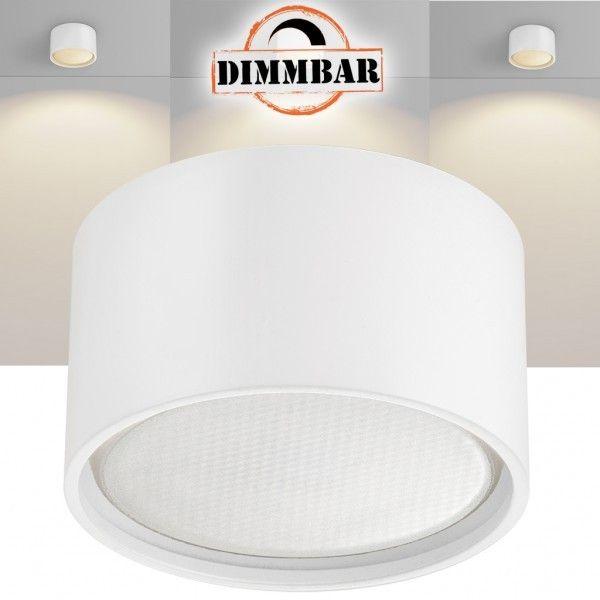 LED Aufbaustrahler Set GX53 - Weiß - tauschbares und dimmbares 4,5 W Markenleuchtmittel von LEDANDO