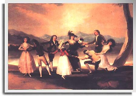 La Gallinita Ciega / The Blind Man´s Bluff is a painting produced by Goya in 1789.