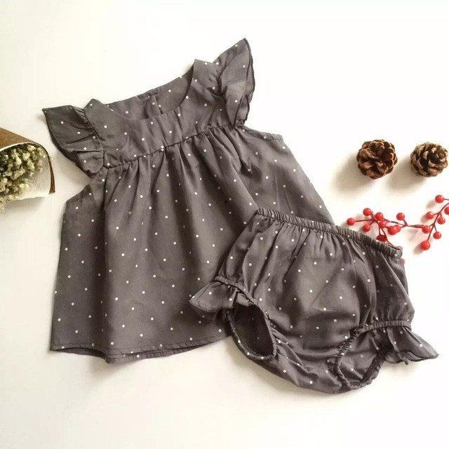 """Kate"" dress is a gentle gray that will look wonderful on your little one.  Shop our other collections of wonderful baby girl dresses. Sleeveless romper  Made o"