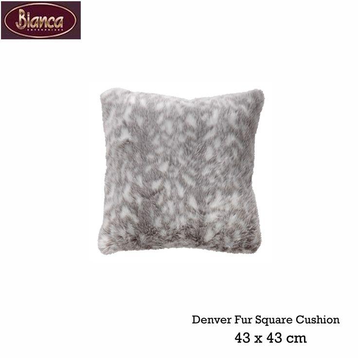 Denver Faux Fur Square Cushion by Bianca