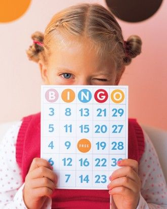 """See the """"Bingo Cards Clip Art"""" in our Birthday Party Clip Art and Templates gallery"""