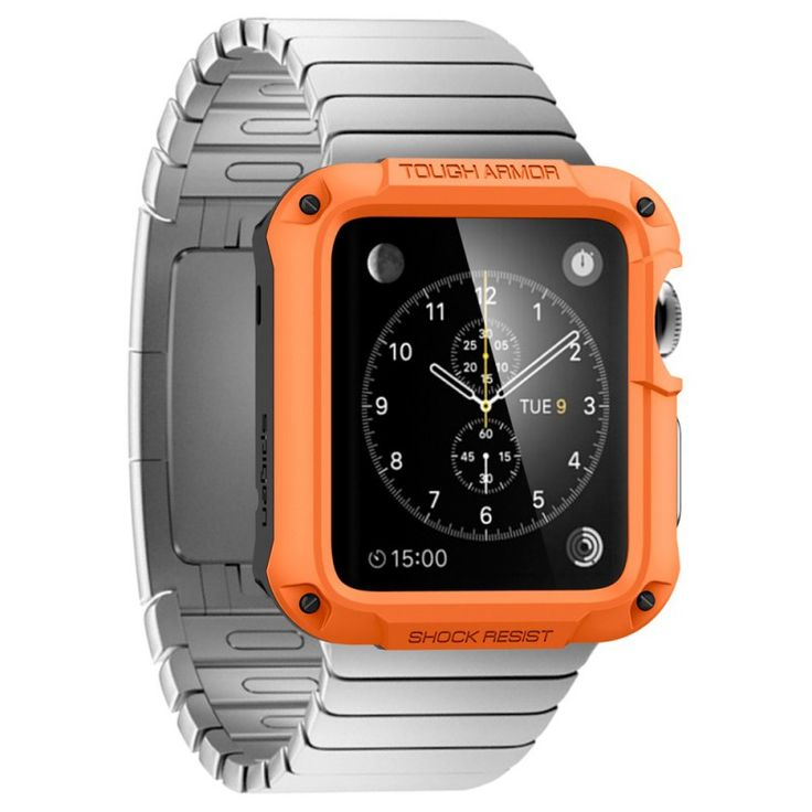 Spigen Apple Watch Tough Armor Case (42 mm) - tangerine tango | arktis.de