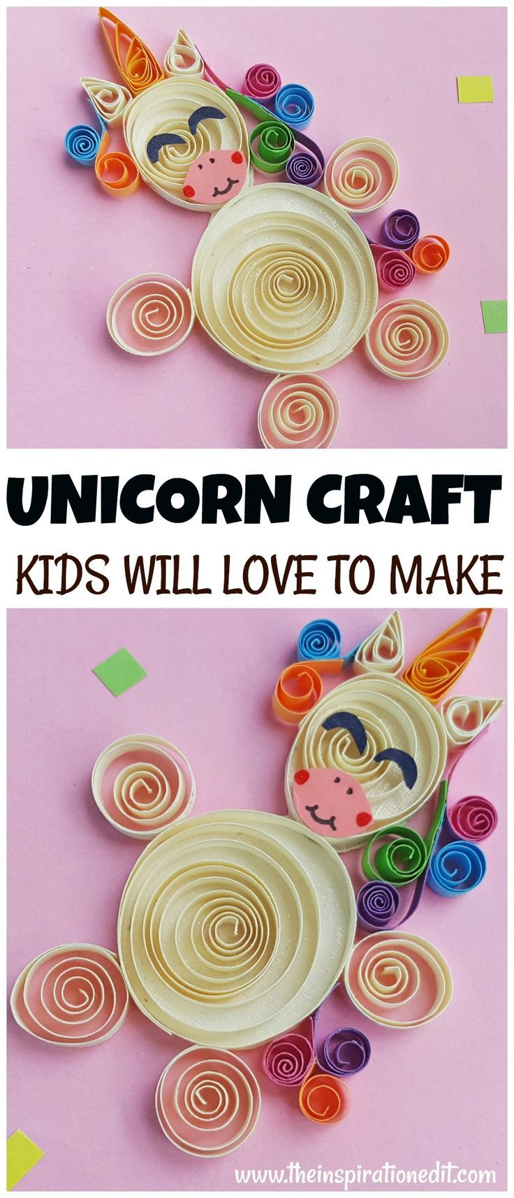 Unicorn Pictures Quilling Project For Kids Kids Fun Games