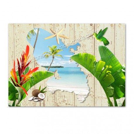set de table pas cher exotique carte de la Martinique