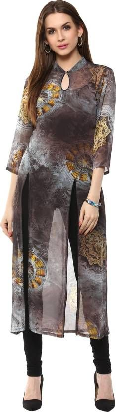 Buy this Ziera Casual Printed Women's Kurti  (Black) at Rs. 1091 only