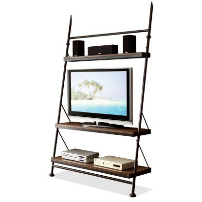 Riverside Camden Town Leaning TV Stand - Hampton Road Ash - TV Stands at Hayneedle
