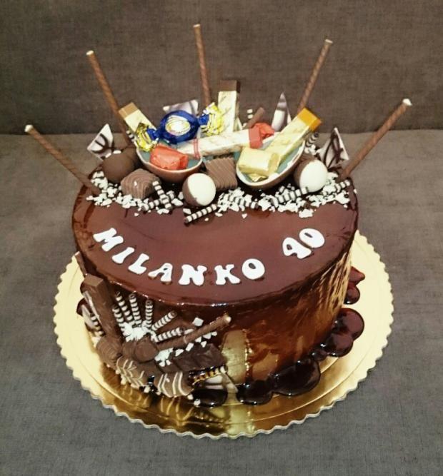 Čokoladová tortička pre Milana, ktorý je evidentne milovník čokolády:) Autorka: andy611. Tortyodmamy.sk