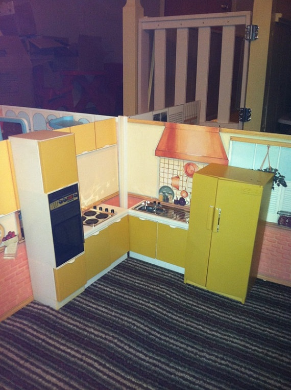 Sindy dolls@ Vintage Sindy Doll Complete Kitchen by LizPearl on Etsy, $60.00
