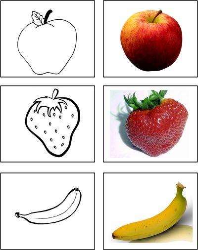 Frukt & grönsaker målarbild siluett -beställning