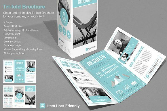Tri-fold Corporate by TypoEdition on @creativemarket