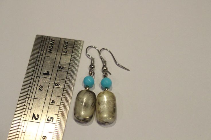 A personal favourite from my Etsy shop https://www.etsy.com/au/listing/254489735/faux-marble-earrings-with-blue-beads