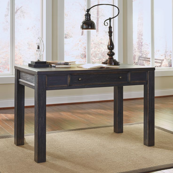 Signature Design by Ashley Gavelston Writing Desk - A quaint and cozy writing area, the Signature Design by Ashley Gavelston Writing Desk matches your dark-wood or traditional furniture set charmingly....