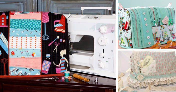 Kreatívne DIY nápady a inšpirácie na krásne látkové kryty na šijacie stroje technikou patchwor alebo v romantickom štýle vintage. Handmade, kryt, obal