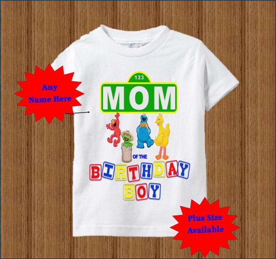 Sesame Street Mom Shirt Raglan Adult By BirthdaysGalore