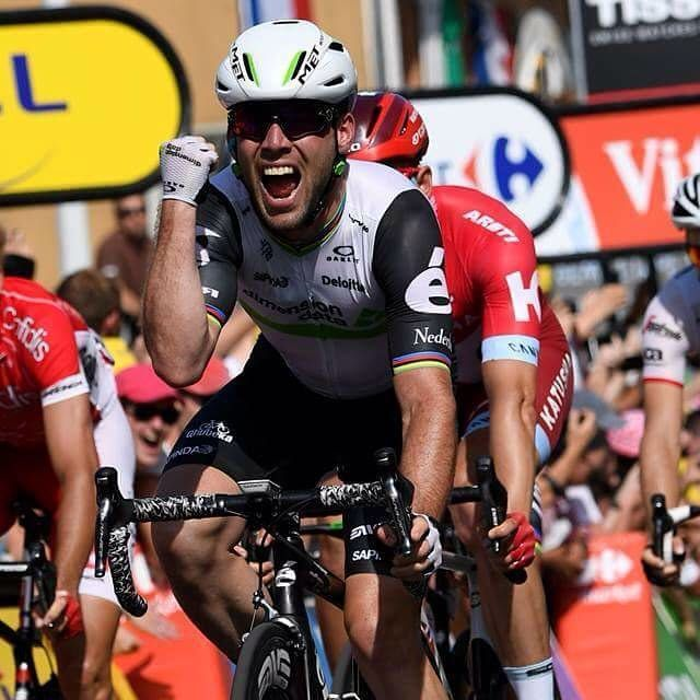 There was a third stage win for @MarkCavendish in this year's @LeTourDeFrance as he stormed to victory in Stage 6️⃣ today! 🚴🇬🇧🙌 #Eurosport #TourDeFrance #LeTourDeFrance #TDF #TDF2016 #France #French #HomeOfCycling #Cycling #Peleton #Paris #EurosportTV #Arpajon #Cere #Montauban #Stage6 #Tour #Maillot #Jaune #MaillotJaune #Cavendish #GB #GreatBritain #Britain