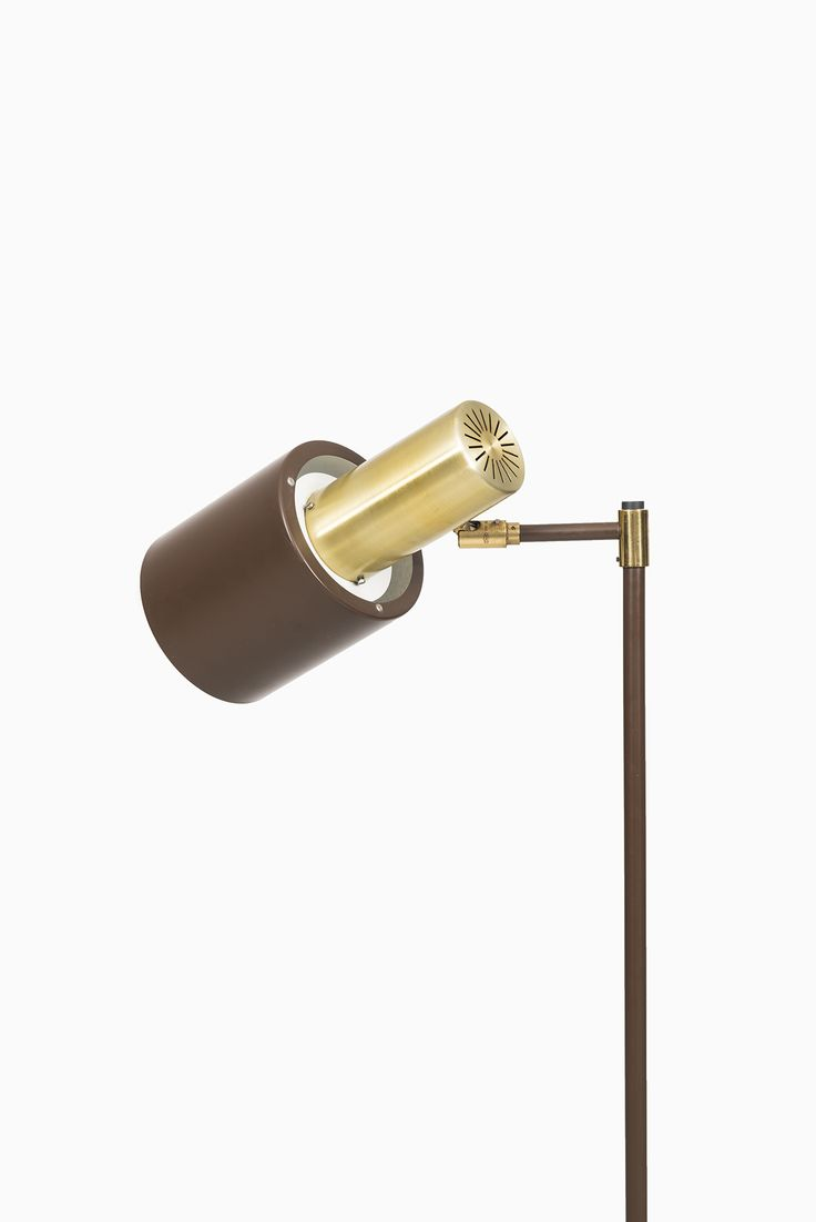 View this item and discover similar floor lamps for sale at jo hammerborg floor lamp model studio in brass and brown lacquered metal produced by fog