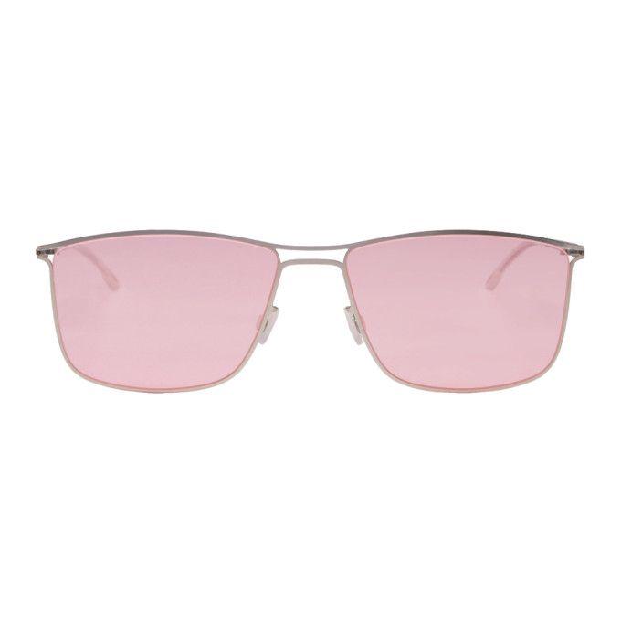 4712ca3fa31 Mykita Silver And Pink Berge Sunglasses