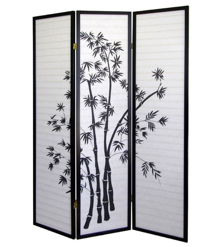 Create privacy or simply decorate with this 3-Panel Room Divider - Bamboo by O.R.E.  #privacy #privacyfenceidea #interiordesign #interiorarchitecture #interiordecor #interiordesignideas