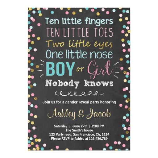 25+ best ideas about gender reveal invitations on pinterest, Baby shower invitations