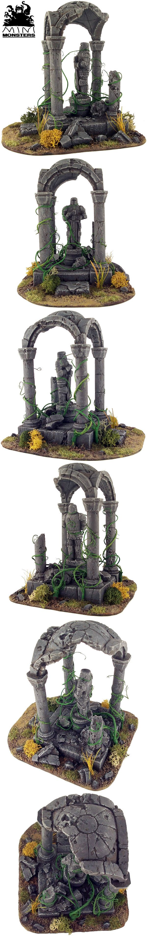 Ruined Temple.  Could be a good terrain piece for warhAmmer fantasy, 40k,