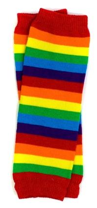 Rainbow Newborn Leg Warmers